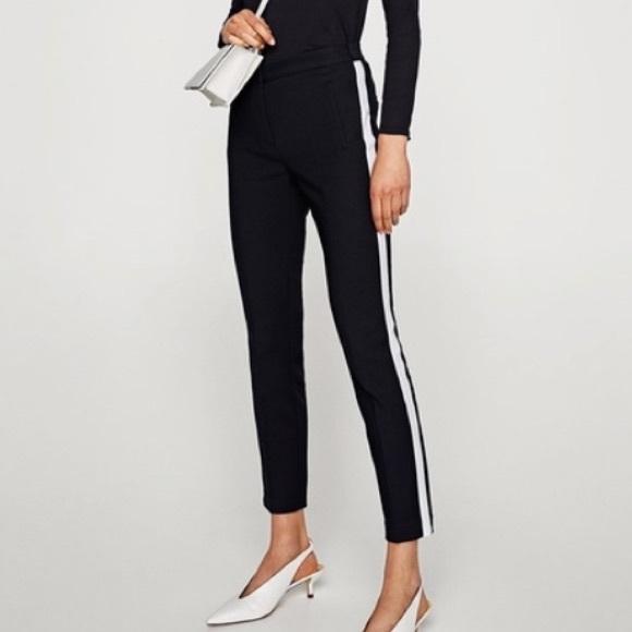 Zara Pants - ZARA Basic Striped Trouser